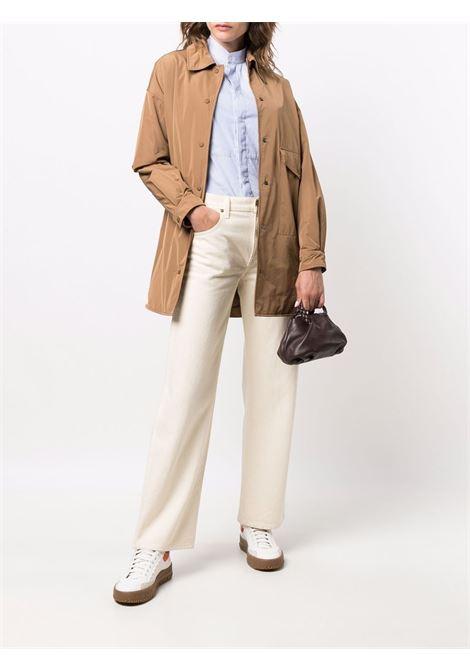 Brown press-stud fastening shirt coat featuring classic collar ASPESI |  | 1N29-G70301323