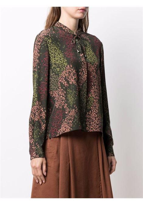 Green silk leopard-print  shirt featuring all-over leopard print ASPESI |  | 5408-A32365245