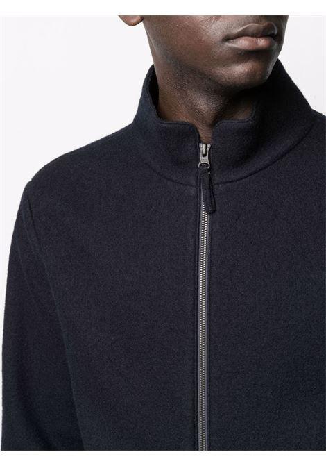 Navy blue wool stand-up collar bomber jacket  ASPESI |  | CG45-E52201098