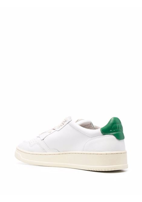 White leather Medalist sneakers sneakers featuring green detail AUTRY |  | ALUM-LL20BIANCO-VERDE