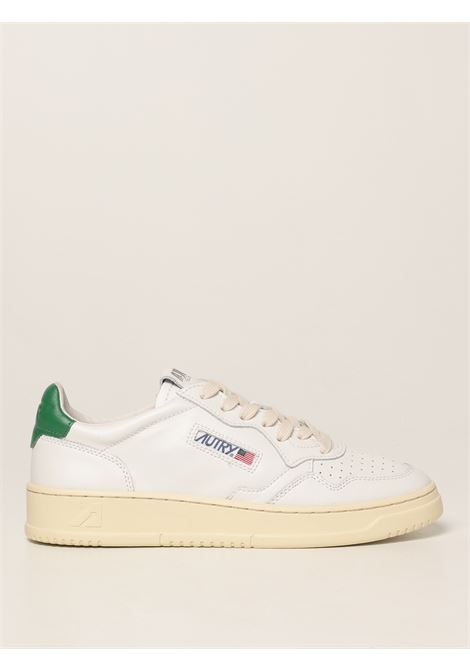 Sneakers in pelle bianca Medalist con dettaglio verde AUTRY   Sneakers   AULM-LL20BIANCO-VERDE