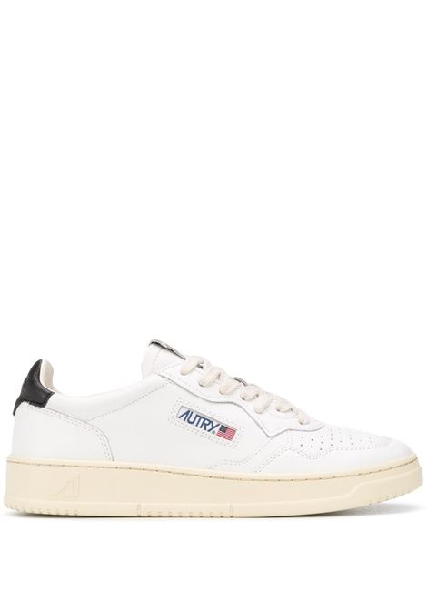 White leather Medalist low-top sneakers  featuring black detail AUTRY |  | ALUM-LL22BIANCO-NERO