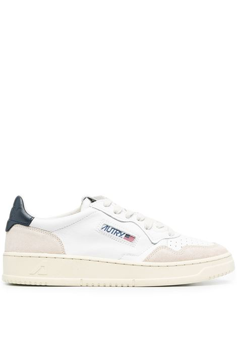 White and blue suede and leather Medalist sneakers  AUTRY |  | ALUM-LS28BIANCO-BLU