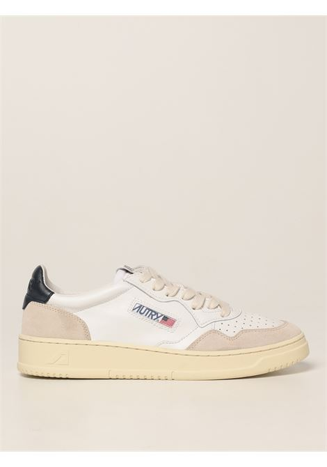 Sneakers Medalist in camoscio e pelle bianca e blu AUTRY   Sneakers   AULM-LS28BIANCO-BLU
