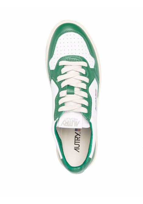 White and pine green leather Medalist low-top sneakers AUTRY |  | AULM-WB03BIANCO-VERDE
