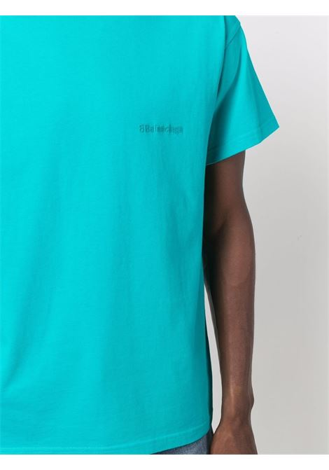 oversized turquoise T-shirt featuring embroidered Balenciaga logo BALENCIAGA |  | 612965-TJV874664