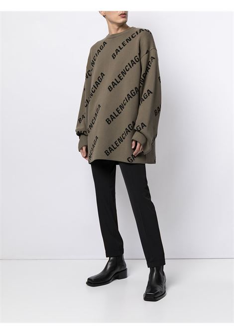 Light brown cotton and wool intarsia oversized jumper BALENCIAGA |  | 657401-T32002900
