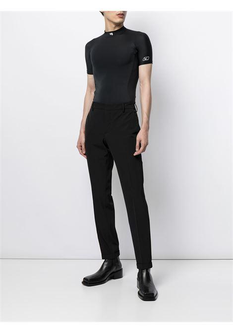 Black short-sleevefitted top featuring crew neck BALENCIAGA |  | 661752-4B0B11077