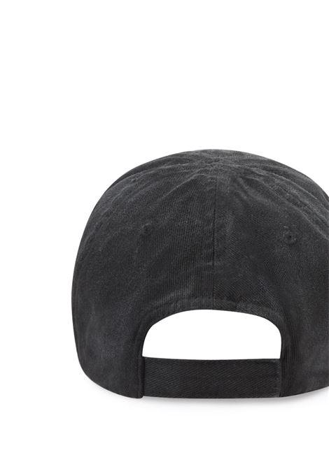 Cappellino in cotone grigio con effetto consumato BALENCIAGA | Cappelli | 661884-410B21077