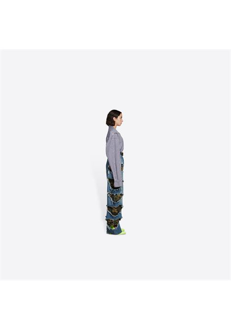 baggy jeans in organic cotton denim with camouflage-print rips BALENCIAGA |  | 662763-TDW148146