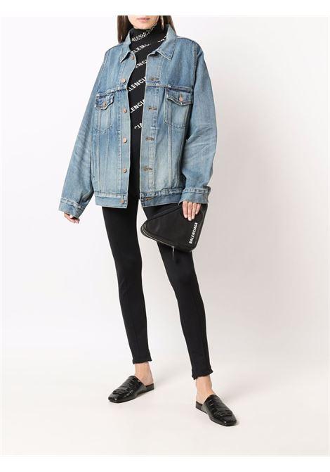 Blue cotton wide-sleeved denim jacket  BALENCIAGA |  | 662853-TDW148146