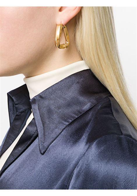 orecchini triangolari in ottone dorato con chiusura a cerniera BOTTEGA VENETA | Orecchini | 608590-VAHU08120