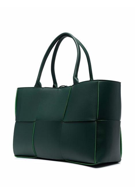 Borsa tote Arco in pelle di agnello verde scuro BOTTEGA VENETA | Borse tote | 609175-VMAY33038