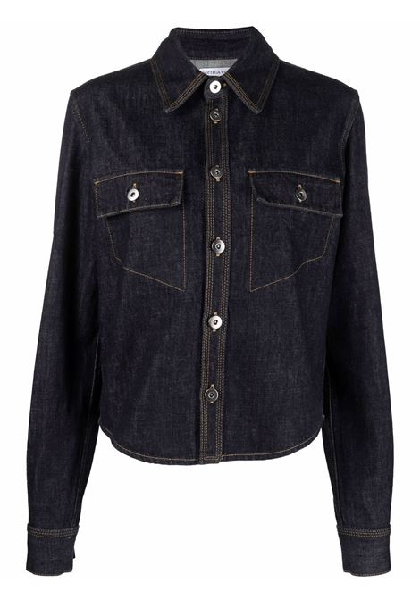 Indigo cotton dark wash denim shirt  BOTTEGA VENETA |  | 656019-V0W204245