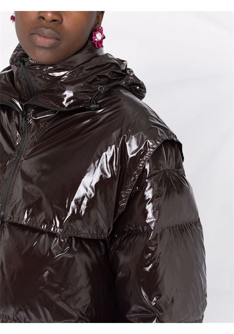 Piumino nero in nylon lucido imbottito con piuma d'oca BOTTEGA VENETA | Piumini | 659724-V0Y302189