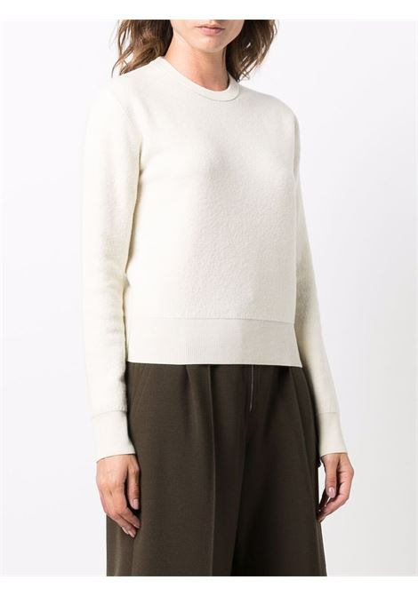 Maglia avorio in panno di lana girocollo BOTTEGA VENETA | Maglieria | 664712-V0ZR09317