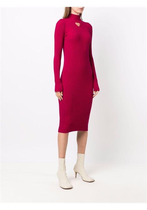 Ruby red wool rib-knitted midi dress  BOTTEGA VENETA |  | 664857-V0Z805575