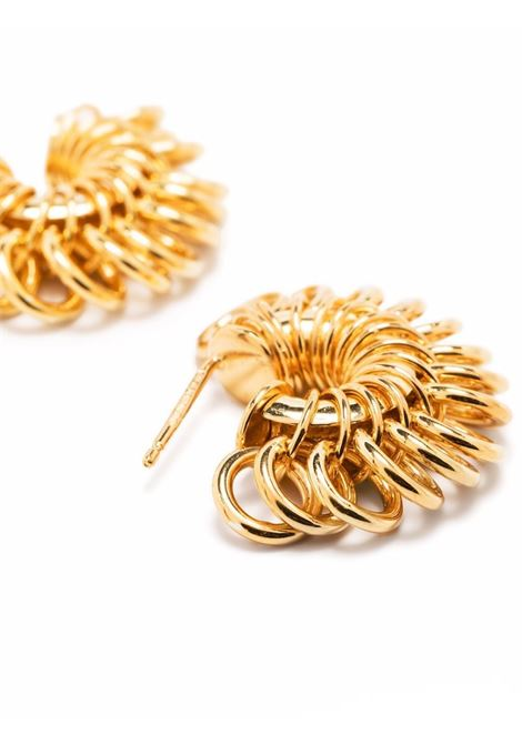 Orecchini Disco a cerchio in argento dorato BOTTEGA VENETA | Orecchini | 665777-VAHU08120