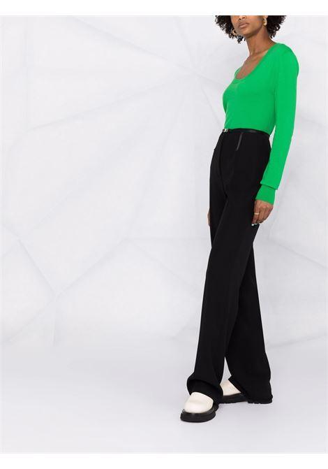 Green stretch cashmere scoop neck jumper  BOTTEGA VENETA |  | 665903-VKSE04809