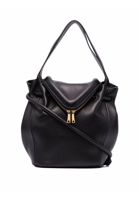 Black calf leather small Beak shoulder bag  BOTTEGA VENETA |  | 666531-VCP408425