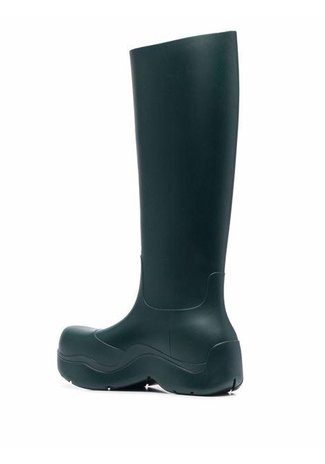 Stivali al polpaccio in gomma verde bosco  Puddle BOTTEGA VENETA | Stivali | 667222-V00P04615