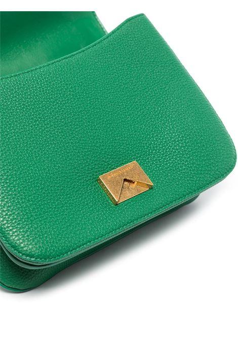 borsa tote Beak in pelle di vitello verde con catena dorata BOTTEGA VENETA   Borse a tracolla   667399-V12M03113