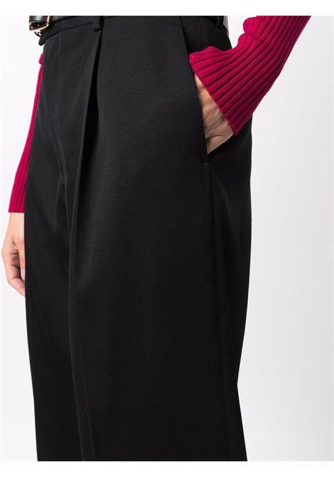 Black wool wide-leg tailored trousers  BOTTEGA VENETA |  | 668760-V0B201000