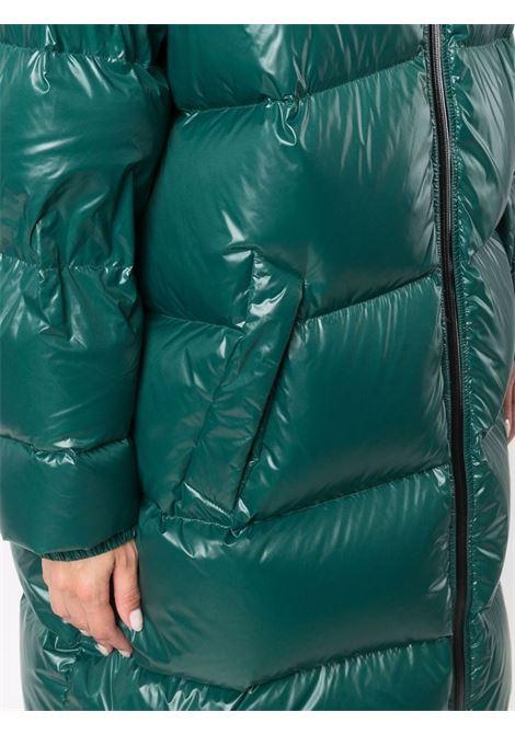 Piumino verde scuro in popeline satinato imbottito in piuma d'oca BOTTEGA VENETA | Piumini | 669353-V0Y603051