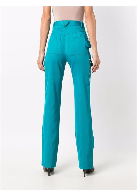 Straight trousers in turquoise gabardine wool  BOTTEGA VENETA |  | 672362-V0B204467