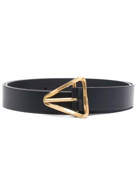 Black calf leather 3cm triangle buckle belt  BOTTEGA VENETA      679476-VMAU38425