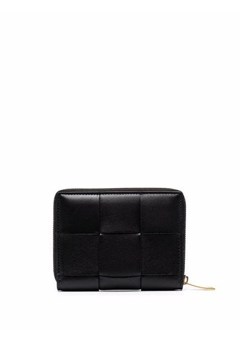 portafogli in pelle di agnello nero con design maxi Intrecciato BOTTEGA VENETA | Portafogli | 681191-VCQC18425