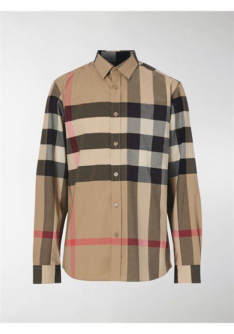 Beige cotton shirt in Vintage Burberry Check print  BURBERRY      8010213-SOMERTONA7028