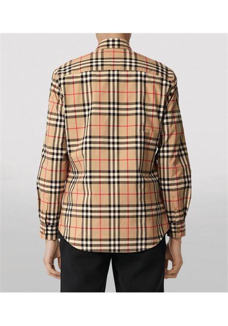 camicia beige Archive Vintage Check in popeline di cotone BURBERRY | Camicie | 8020863-CAXTONA7028