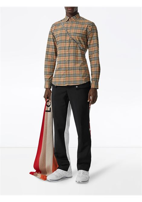 beige stretch cotton small scale Vintage Check shirt  BURBERRY |  | 8020966-SIMPSONA7028