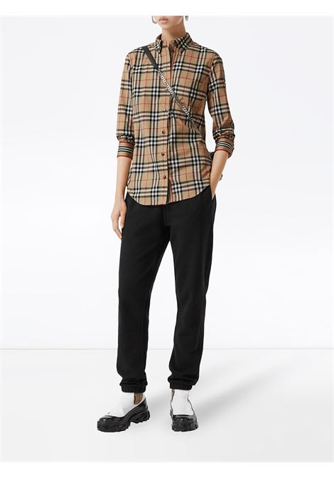 Vintage Burberry Check print long-sleeved shirt with classic collar BURBERRY | Camicie | 8022284-LAPWINGA7028