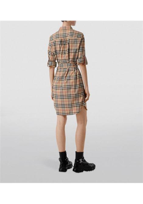 beige Vintage Check Print stretch-cotton dress  BURBERRY |  | 8024585-GIOVANNAA7028