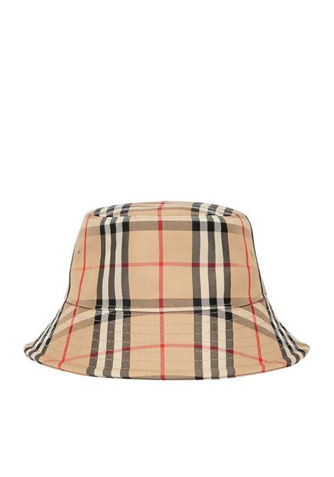 beige cotton Burberry Vintage Check bucket hat   BURBERRY |  | 8026927-MH 2 PANEL BUCKETA7026