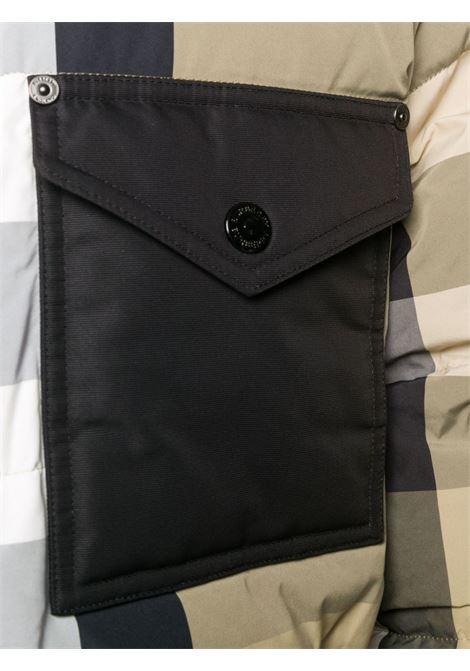 Piumino reversibile con cappuccio in nylon riciclato idrorepellente beige BURBERRY   Piumini   8033115-RUTLANDA7028