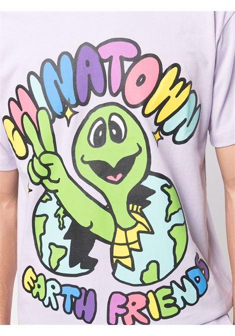 Soft lavender cotton graphic-print cotton T-shirt  CHINATOWN MARKET |  | 1990475-EARTH FRIENDSPURPLE