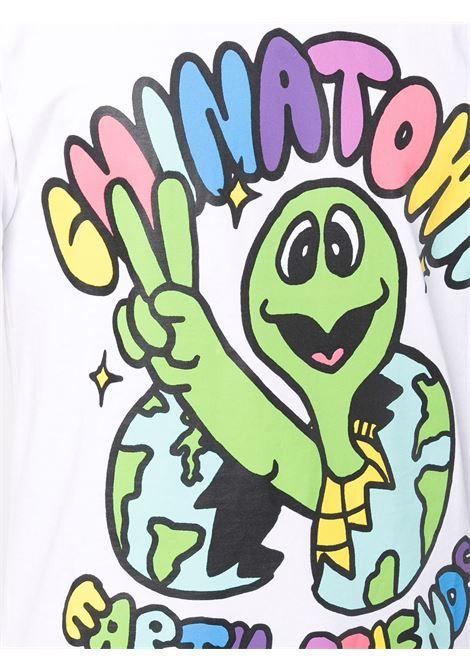 White cotton Earth Friends multicolored graphic T-shirt  CHINATOWN MARKET |  | 1990475-EARTH FRIENDSWHITE