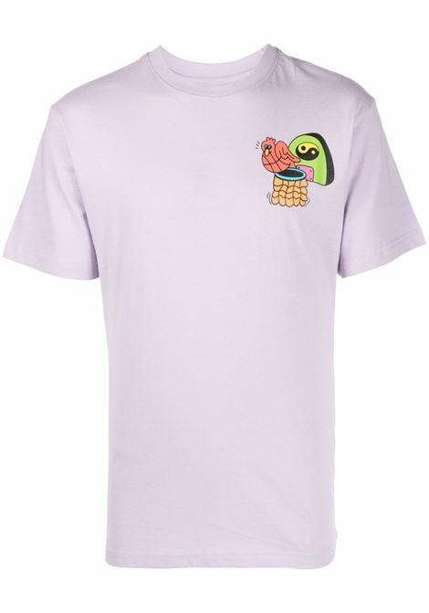 T-shirt lilla in cotone con stampa grafica sul retro CHINATOWN MARKET | T-shirt | 1990520-DAWG DAYSPURPLE