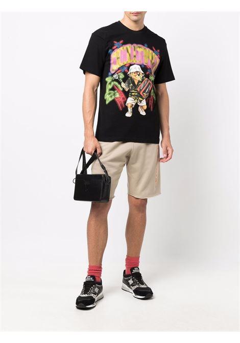 T-shirt nera multicolor in cotone con stampa orso CHINATOWN MARKET | T-shirt | 1990523-CABO BEAR ARCBLACK