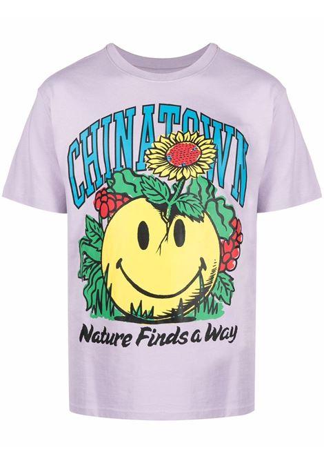 lavender cotton Smiley Planter print T-shirt  CHINATOWN MARKET |  | 1990536-SMILEY PLANTERPURPLE