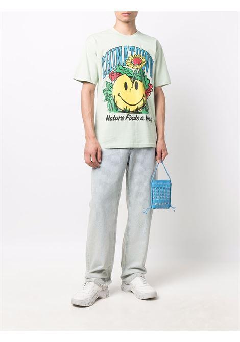 Pale green cotton Smiley Planter print T-shirt   CHINATOWN MARKET |  | 1990536-SMILEY PLANTERTEA GREEN