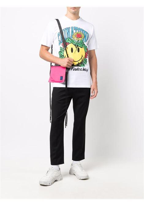 white and multicolour cotton Smiley Planter print cotton T-shirt  CHINATOWN MARKET |  | 1990536-SMILEY PLANTERWHITE