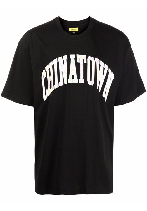 Black cotton Chinatown logo-print T-shirt  CHINATOWN MARKET |  | 1990544-WATERCOLOR ARCBLACK