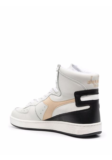 White black and pink leather lace-up high-top sneakers DIADORA |  | 158569-MI BASKET USEDC9592
