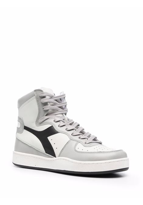 White, grey and black leather lace-up high-top sneakers  DIADORA |  | 158569-MI BASKET USEDC9594