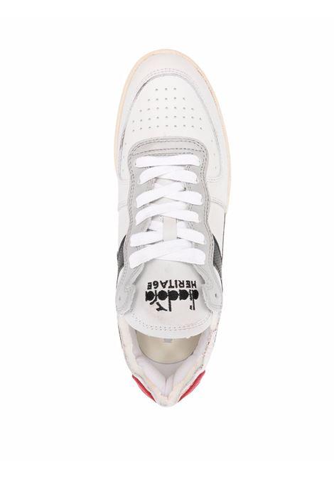 White, red and black leather Basket Row sneakers  DIADORA |  | 176282-MI BASKET ROWCUTC9595