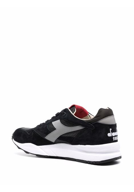 Black leather and suede panelled low-top trainers   DIADORA |  | 177154-ECLIPSE ITALIA80013